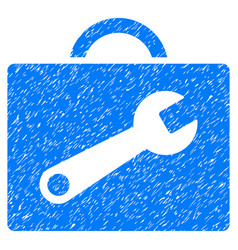 Tool case grunge icon vector
