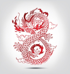 Traditional Chinese oriental Dragon vector image