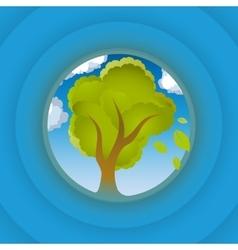 Tree look in circle vector image vector image