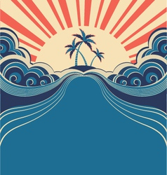 Tropical poster background vector
