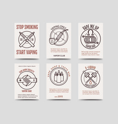 Vape shop cards design vector