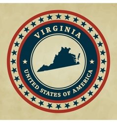 Vintage label Virginia vector image vector image