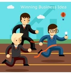 Winning business idea Success in innovation vector image vector image
