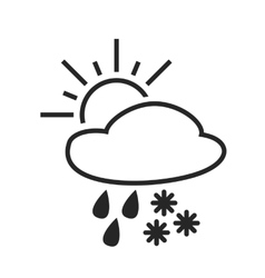 Heavy rain with snow sleet shower weather vector
