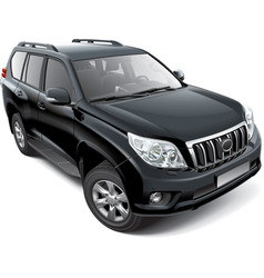 Japanese mid size luxury SUV vector image