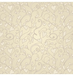 Vintage background with hearts ornament vector