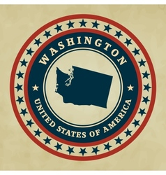 Vintage label washington vector