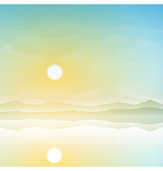 Simple landscape vector