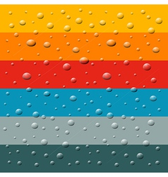 Rain water drops on retro colorful background vector