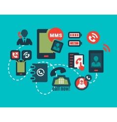 big advertising icons set vector image