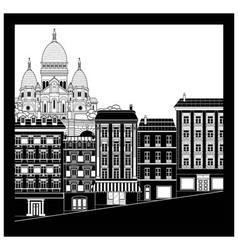 montmartre landscape vector image
