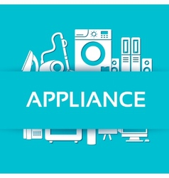 Flat modern kitchen appliances set icons concept vector