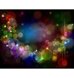 Abstract light background - glowing circles with vector