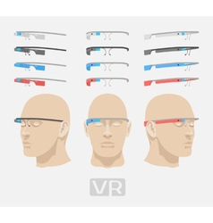 Augmented reality glasses vector