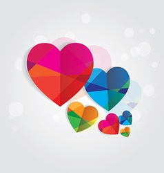 Geometric love hearts vector