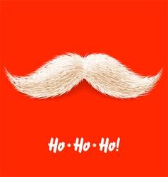 santas mustache vector image