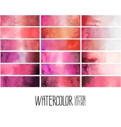Red watercolor gradient rectangles vector