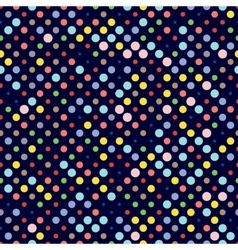 Seamless dotted pattern polka dot fabric vector