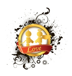 love label vector image