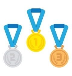 Isolated medal on the white background vector