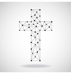 Abstract cross christian symbol vector