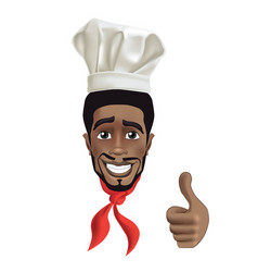 African men smiling chef vector
