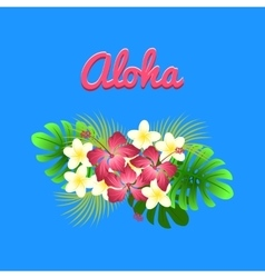 Aloha hibiscus flower as a symbol of Hawaii vector image vector image