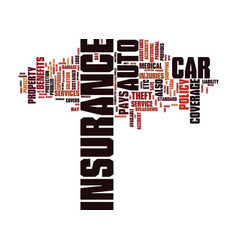 Auto insurance risk your car free text background vector