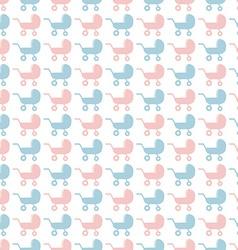 Baby stroller pattern vector image