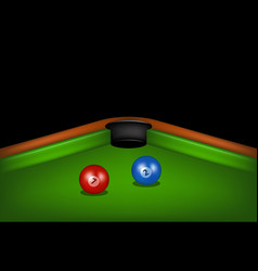 Blue and red billiard balls vector