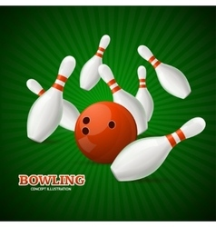Bowling Concept vector image