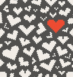 Different abstract heart icons seamless pattern vector image vector image