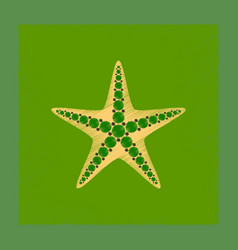 Flat shading style tropical starfish vector