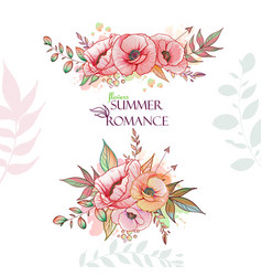 Flovers summer romance vector