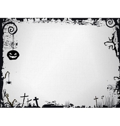 Grunge halloween frame vector