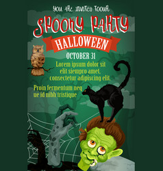 Halloween holiday october party poster vector