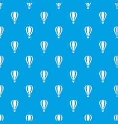 Hot air ballon pattern seamless blue vector