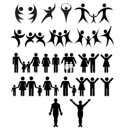 human symbol vector image vector image