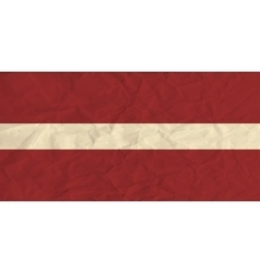 Latvia paper flag vector image vector image
