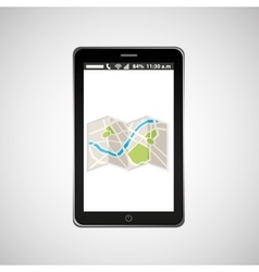 map mobile phone navigation vector image