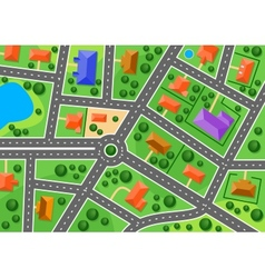 Map of suburb or little town vector image vector image