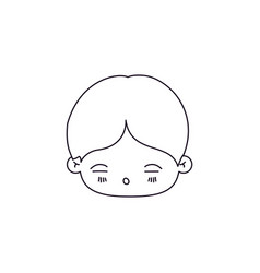 Monochrome silhouette of facial expression asleep vector