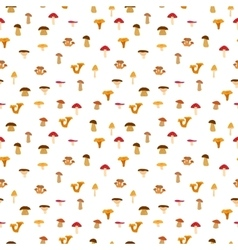 Mushrooms seamless texture with autumn pattern vector