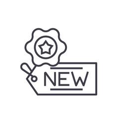 new tag concept thin line icon symbol vector image vector image