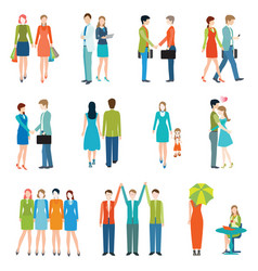 people in various lifestyles vector image vector image