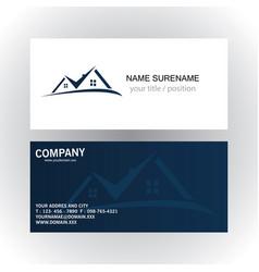real estate logo business card vector image