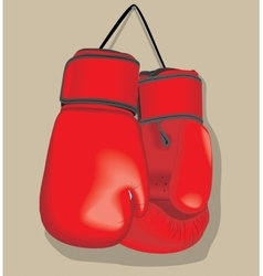 Red boxing gloves Realistic vector image vector image