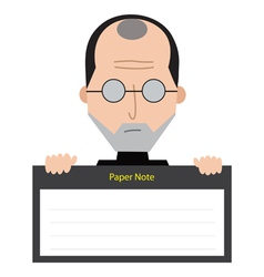 Steve Jobs Paper Note vector image
