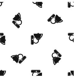 Wall lamp pattern seamless black vector