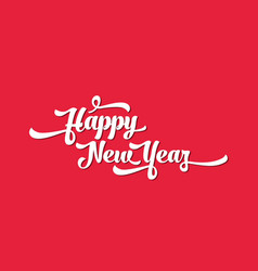 white text on a red background happy new year vector image vector image